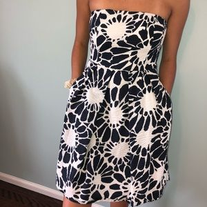 JCrew Strapless Dress w/ Pockets